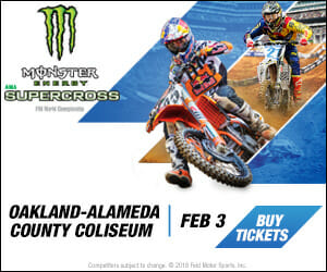 Monster Energy Supercross at Oakland Colisuem, February 2018