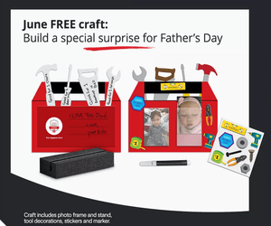 JC penny Free Kids Zone Craft for June