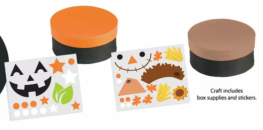 Free JCPenney Kids Zone   October Kit: Build Your Own Fall Treasure Box
