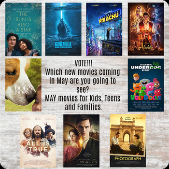 May movies for kids, teens and families