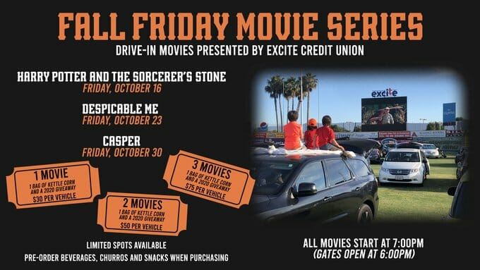 San Jose Giants Fall Friday Movie Series