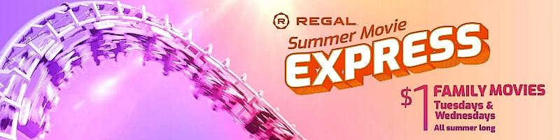 Regal Summer Movie Express 2021 $1 Movie Schedule