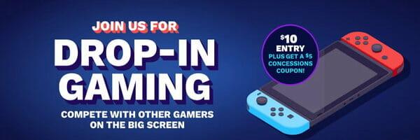 Drop In Gaming at Cinemark | CelebrateFamily.us