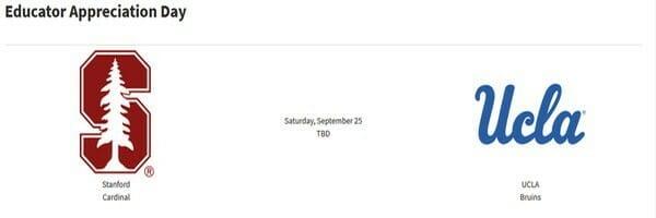 Free Stanford Football Tix | Educator Appreciation Day